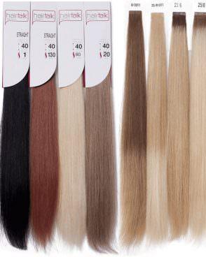 Набор Hair Talk  из 20 прядей натуральных волос  40 см и 50 см различной длинны и цветов с переходными цветами