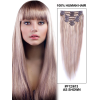 Набор 8 прядей на заколках, из натуральных волос ( 67 см) Remy Hair