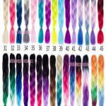 Цветной Канекалон; волокно для плетения косичек