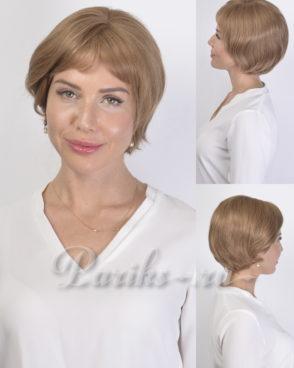 Парик из натуральных волос модель; Iness, с моно вставкой ручной работы, «Jasmine collection»