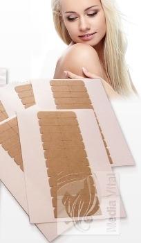 Полимерные полоски Cuttings для повторного наращивания натуральных  волос