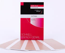 Полимерные полоски Cuttings для повторного наращивания натуральных  волос по  системе Hair Talk