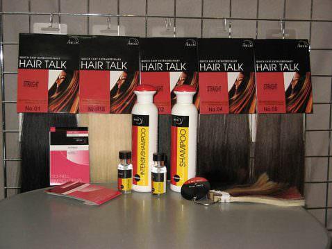 Набор прядей из натуральных волос с полимерным креплением Hair Talk
